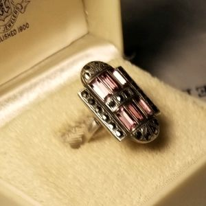 Antique Art Deco 1920s Amethyst Sterling Ring
